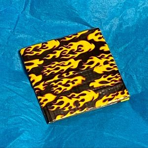 NWOT Flame Duct Tape Wallet